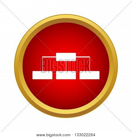 Structure icon in simple style isolated on white background