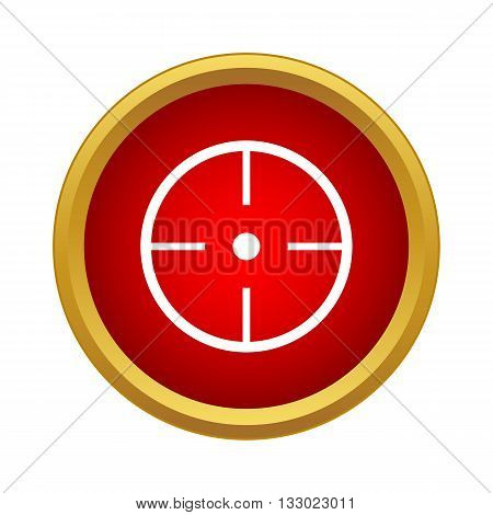 Aim icon in simple style isolated on white background