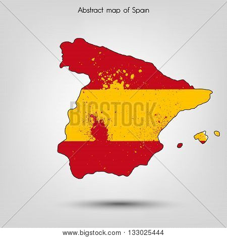 Abstract map of Spain. Vector illustration. Vector background