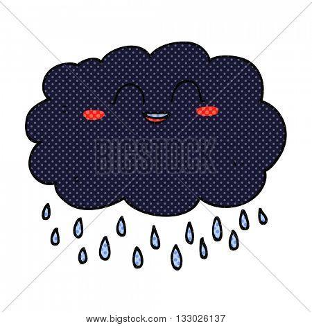 freehand drawn cartoon raincloud