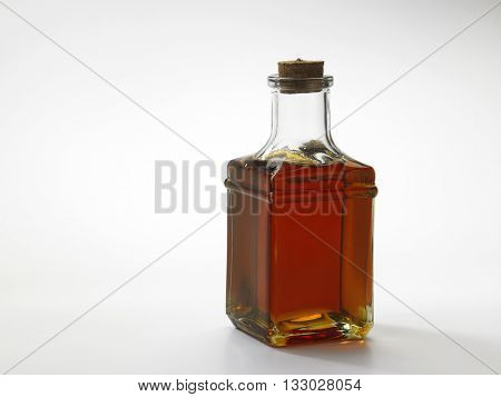 red oil palm oil in a bottle