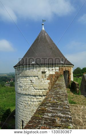 THE WHITE TOWER OF CITADEL OF MONTREUIL ON SEA, PAS DE CALAIS, THE NORTH OF FRANCE