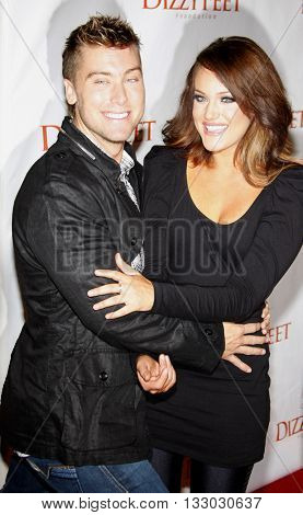 Lance Bass and Lacey Schwimmer at the Dizzy Feet Foundation's Celebration of Dance held at the Kodak Theater in Hollywood, USA on November 29, 2009.