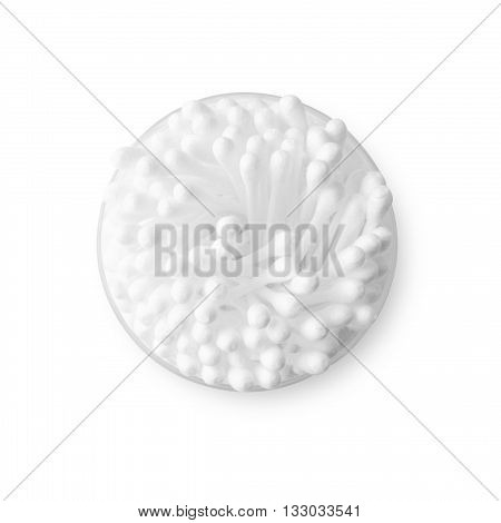 cotton bud isolated on white color backgrond