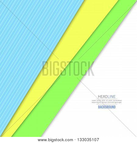 Material design background. Flat design layout. Abstract shape material design. Vector flat background. Fashion background green