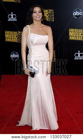 Sofia Vergara at the 2009 American Music Awards held at the Nokia Theater in Los Angeles, USA on November 22, 2009.