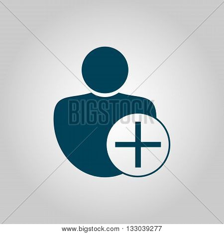 User Add Icon In Vector Format. Premium Quality User Add Symbol. Web Graphic User Add Sign On Grey B