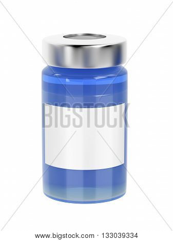 Medical vial isolated on white background, 3D illustration
