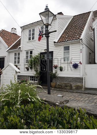 the old town of stavanger in norway