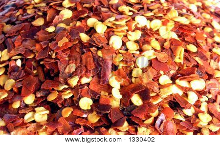 Crushed Red Chilli Pepper. Background.