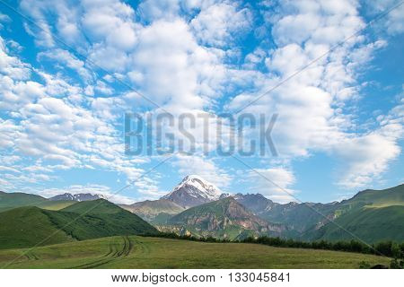Mountain view of the highest peak in Georgia