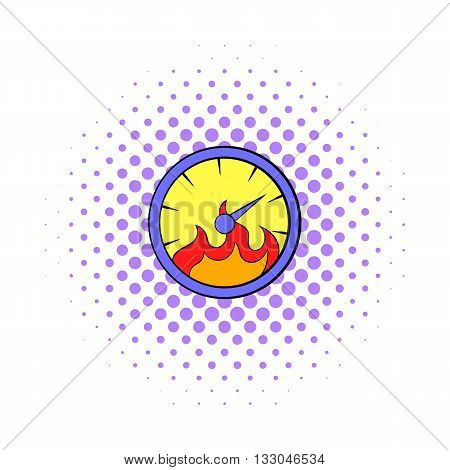 Speed design icon in comics style on a white background