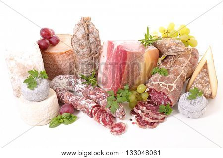 assorted cheese and salami