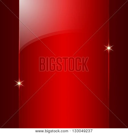 Vector abstract colored shining red metallic background plate