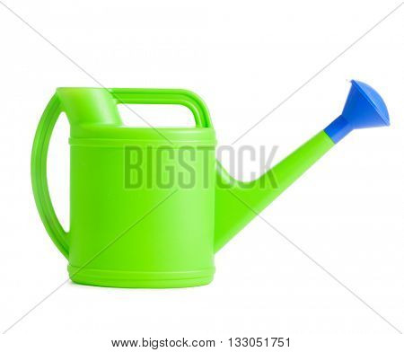 Watering can. Sprinkler isolated on white. Bailer