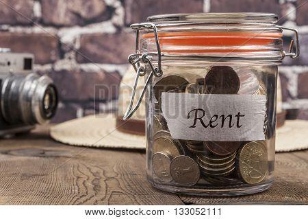 Rent Savings Jar