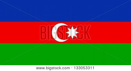 Vector of official flag of Azerbaijan country, Azerbaijan flag illustration