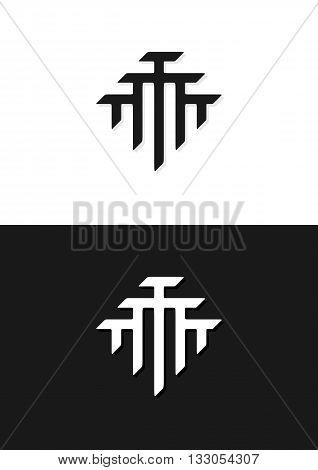 T monogram logo design. Conceptual logo for unity teamwork society partnership community family etc