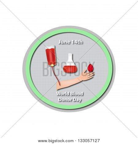 World Blood Donor Day - June 14. Baner. Infographics. Vector illustration on isolated background.