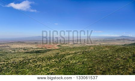 Panoramic view of Great Rift Valley in Africa