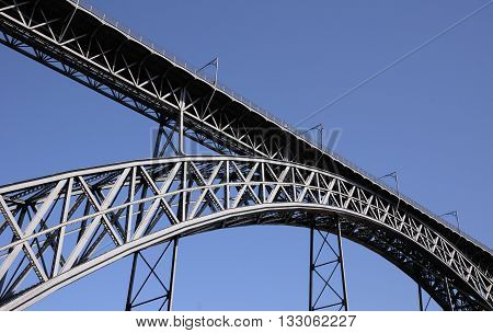 Porto Portugal - july 10 2010 : bridge on Douro river