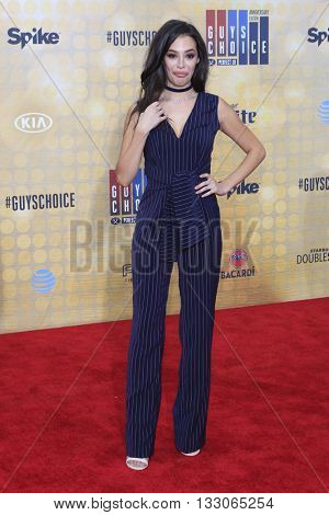 LOS ANGELES - JUN 4:  Chloe Bridges at the 10th Annual Guys Choice Awards at the Sony Pictures Studios on June 4, 2016 in Culver City, CA