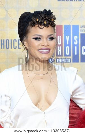 LOS ANGELES - JUN 4:  Andra Day at the 10th Annual Guys Choice Awards at the Sony Pictures Studios on June 4, 2016 in Culver City, CA