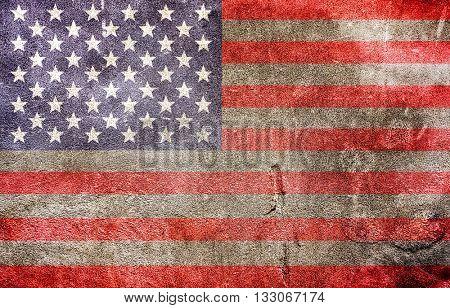 Grungy USA flag