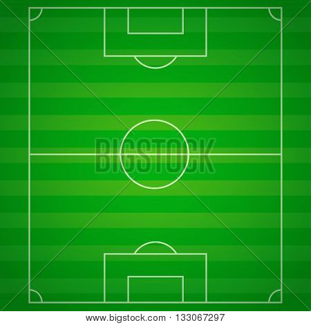 Soccer field with lines. Vector illustration eps10