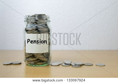 Money saving for Pension in the glass bottle