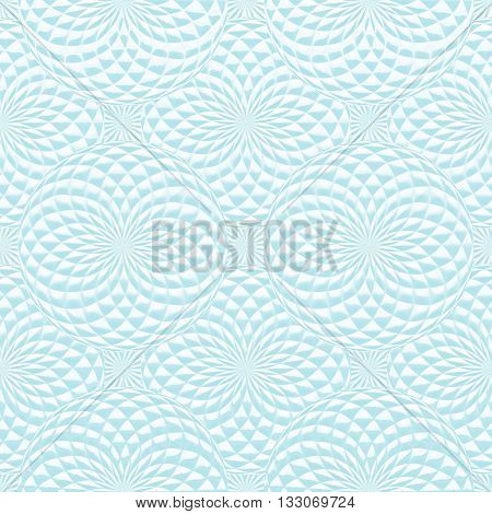 Abstract blue geometric background with spheres. Abstract stylish seamless pattern.