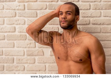 Handsome Afro American Man