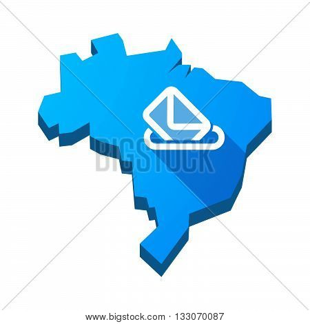 Illustration Of An Isolated Brazil Map With  A Ballot Box