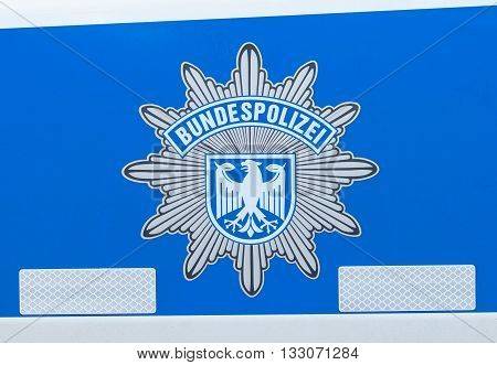 BERLIN / GERMANY - JUNE 4 2016: german bundespolizei