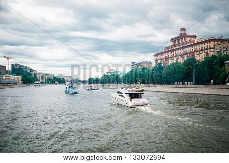 Ships On Moskva River