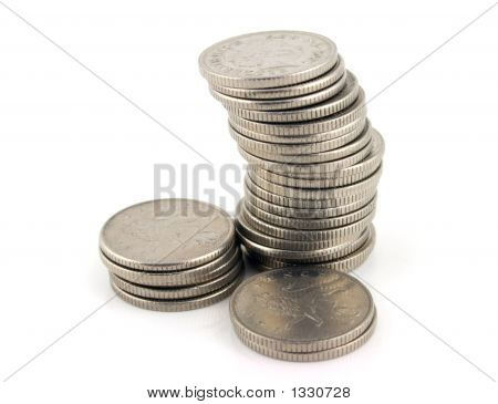 Money - Stack Of 10 Pence Pieces