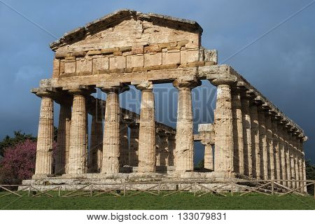 Capaccio - the temple of Ceres in the archaeological site of Paestum