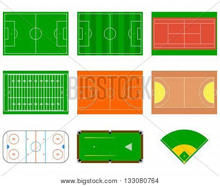 Sport courts and fields. Can be used for demonstration education strategic planning and other proposes.