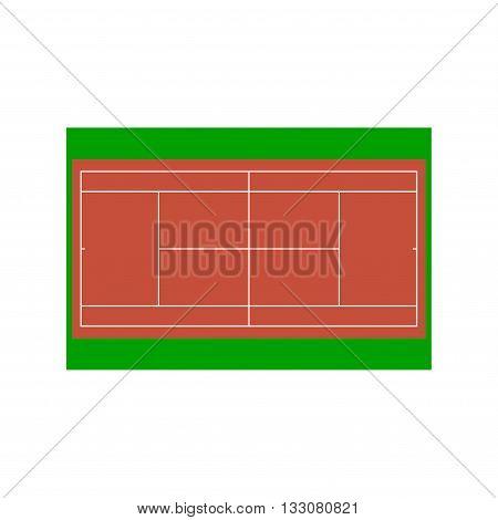 Tennis court. Vector illustration for design. EPS