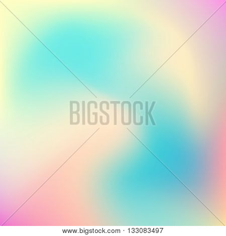 Abstract blur gradient background with trend pastel pink, yellow and blue colors for deign concepts, wallpapers, web, presentations and prints. Vector illustration.