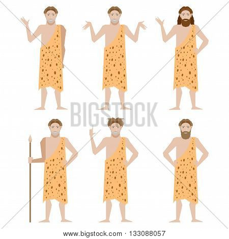 Vector image of the Set of Cavemen
