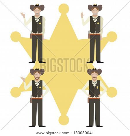 Vector image of the set of sheriffs