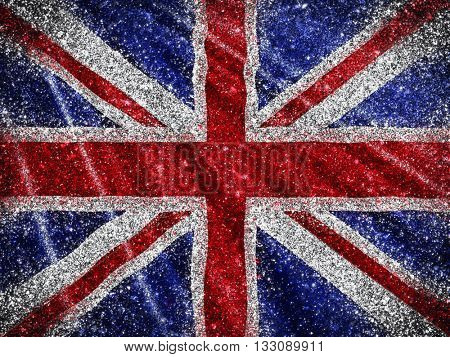 Union Jack Flag background with a glittery effect