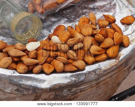 Almonds are often ranked as nuts though actually it is a drupaceous fruit.