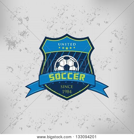 Soccer Football team Badge Logo Emblem Design Templates