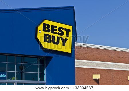 Indianapolis - Circa June 2016: Best Buy Retail Location. Best Buy sells a large array of brand-name electronics computers appliances & more