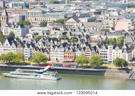 Cologne aerial view in Germany