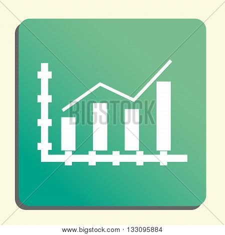 Growth Stats Icon In Vector Format. Premium Quality Growth Stats Symbol. Web Graphic Growth Stats Si
