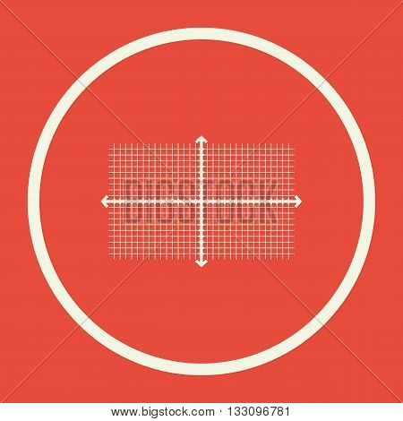 Rectangle Icon In Vector Format. Premium Quality Rectangle Symbol. Web Graphic Rectangle Sign On Red