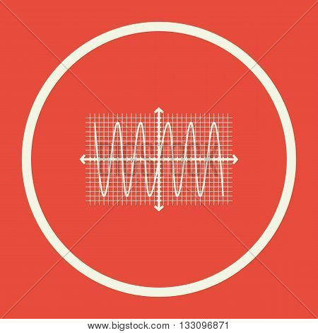 Sinusoid Icon In Vector Format. Premium Quality Sinusoid Symbol. Web Graphic Sinusoid Sign On Red Ba
